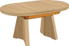 COUCHTISCH in Holzwerkstoff, Metall 110(150,5)/65/54-73 cm - Buchefarben, KONVENTIONELL, Holzwerkstoff/Metall (110(150,5)/65/54-73cm) - Venda