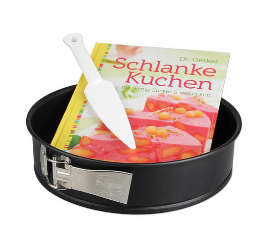 BACKSET - Schwarz, Basics, Metall (26/26/8cm) - Dr.Oetker