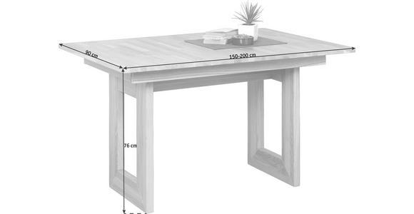 ESSTISCH in Holz 150(200)/90/75 cm   - Eichefarben, Natur, Holz (150(200)/90/75cm) - Voleo