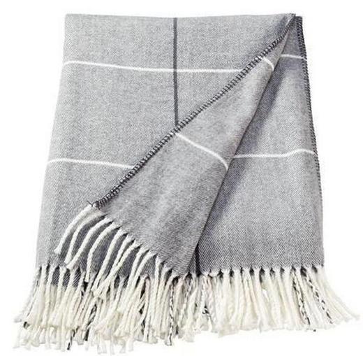 DECKE 150/200 cm Grau - Grau, Textil (150/200cm)