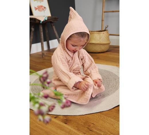 KINDERBADEMANTEL  Pink  - Pink, Basics, Textil (80/86null) - Lässig