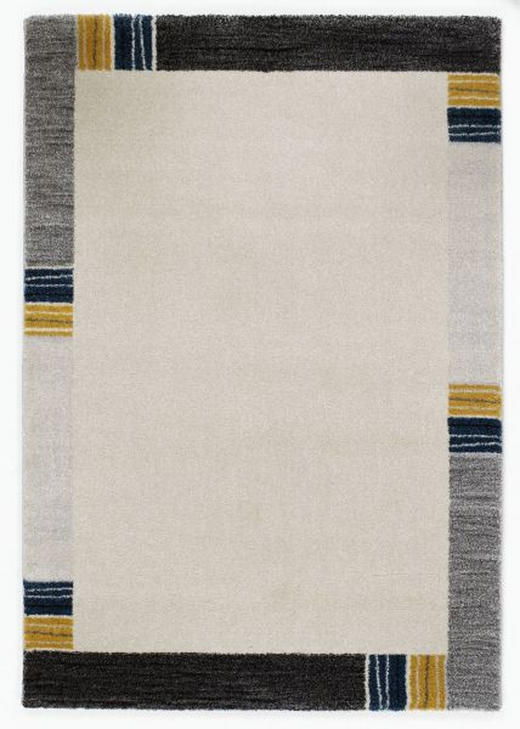 WEBTEPPICH  65/130 cm  Blau, Grau - Blau/Grau, KONVENTIONELL, Textil (65/130cm) - Novel