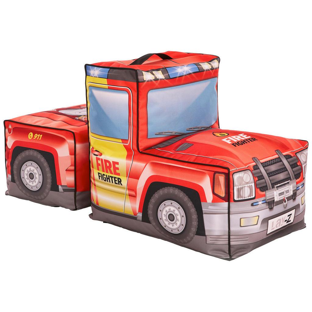 Sitzsack mit Hocker im Feuerwehrautodesign von Xora