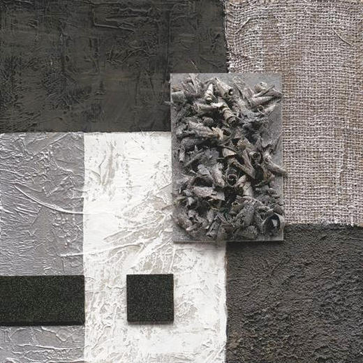 Abstraktes ORIGINALBILD - Schwarz/Weiß, Basics, Holz/Textil (40/40/3,80cm) - EUROGRAPHICS