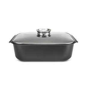 GRYTA - klar/svart, Klassisk, metall/glas (41/25,6/10cm) - Homeware