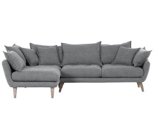 WOHNLANDSCHAFT in Textil Grau - Naturfarben/Grau, Design, Holz/Textil (170/267cm) - Carryhome
