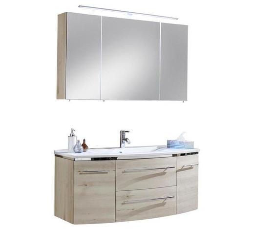 KOUPELNA - bílá/barvy buku, Design, kompozitní dřevo/kámen (122cm) - Welnova