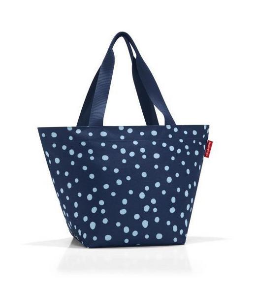 SHOPPER M SPOTS NAVY - Blau, Basics, Textil - Reisenthel