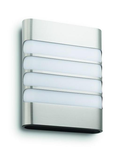 MYGARDEN LED-AUßENWANDLEUCHTE Edelstahlfarben - Edelstahlfarben, Basics, Kunststoff (16,2/20,5/6,6cm) - Philips