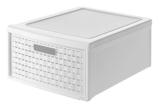SCHUBLADENBOX - Weiß, KONVENTIONELL, Kunststoff (34/20/45cm) - Rotho