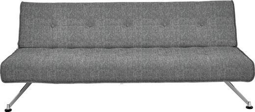 SCHLAFSOFA Grau - Chromfarben/Grau, Design, Textil/Metall (212/19/119cm) - Innovation