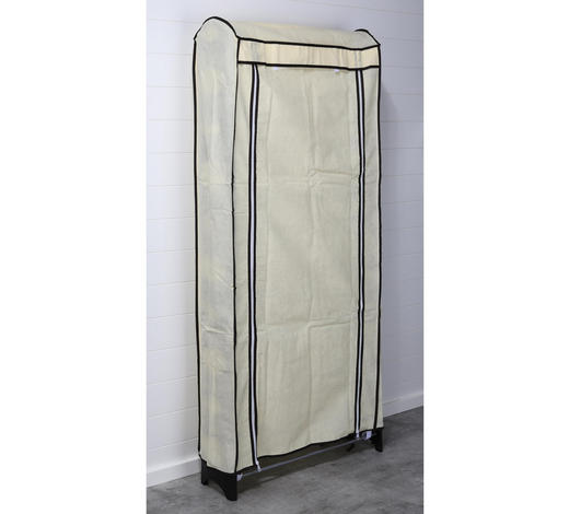 SCHUHREGAL Beige  - Beige, Basics, Kunststoff/Textil (63/154/18cm)