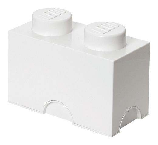 AUFBEWAHRUNGSBOX 25/12,5/18 cm - Weiß, Trend, Kunststoff (25/12,5/18cm) - Lego