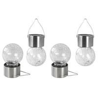 SOLARLEUCHTE - Silberfarben, Design, Glas/Kunststoff (4,5/9cm)