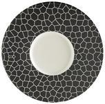 PLATZTELLER  30,2 cm  - Silberfarben/Schwarz, KONVENTIONELL, Keramik (30,2cm) - Novel