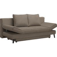 SCHLAFSOFA - Schwarz/Braun, Design, Textil/Metall (200/85/90cm) - Xora