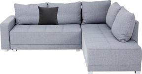 WOHNLANDSCHAFT in Textil Hellgrau - Silberfarben/Hellgrau, Design, Kunststoff/Textil (243/207cm) - Xora