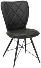 STOLICA - crna, Design, metal/tekstil (49/90/61cm) - Hom`in