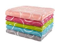FLEECEDECKE MARIA - Blau/Pink, KONVENTIONELL, Textil (130/150cm) - Ombra