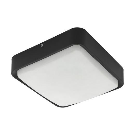 LED-AUßENLEUCHTE - Schwarz/Weiß, MODERN, Kunststoff/Metall (25/25/8cm)