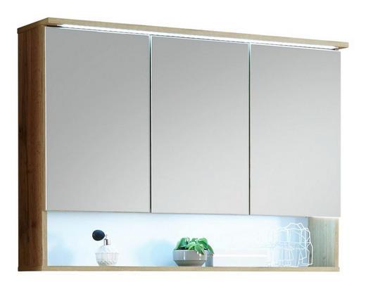 SPIEGELSCHRANK 99/70/23 cm - Eichefarben, MODERN, Glas/Holzwerkstoff (99/70/23cm) - Xora