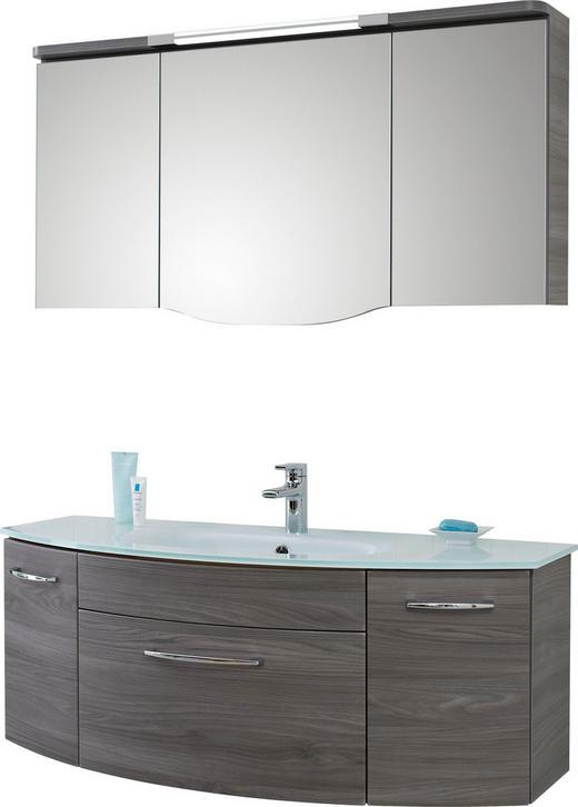 BADEZIMMER Grau - Grau, Design, Glas (131,6cm) - SADENA