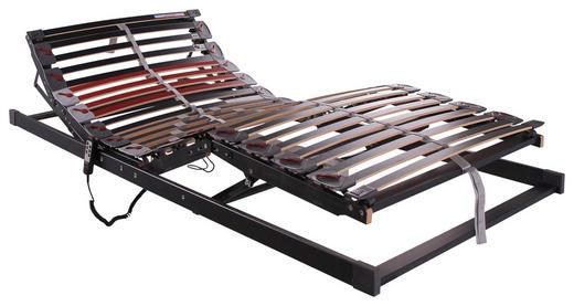 LATTENROST  90/200 cm  Buche Echtholz - Dunkelgrau/Weinrot, Basics, Holz/Kunststoff (90/200cm)