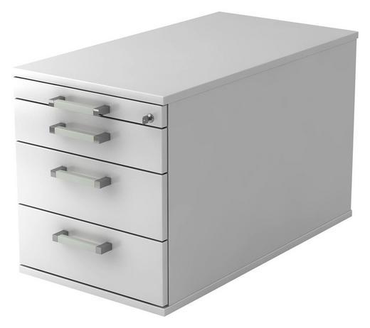 ROLLCONTAINER Weiß - Chromfarben/Weiß, KONVENTIONELL, Metall (42,8/51,2/80cm)
