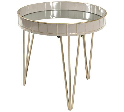 BEISTELLTISCH in Bronzefarben, Grau - Bronzefarben/Grau, LIFESTYLE, Glas/Metall (51/50cm)