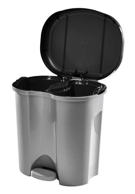 ABFALLEIMER 20 L - Anthrazit/Silberfarben, Basics, Kunststoff (39/32/40,5cm)