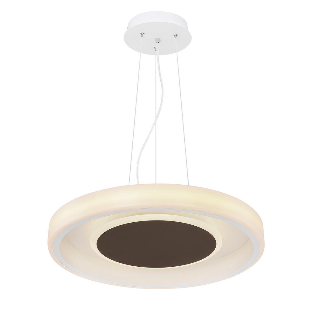 ZÁVĚSNÉ LED SVÍTIDLO, 50/150 cm - hnědá, opál, bílá