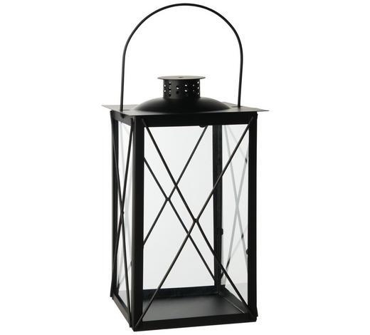 LUCERNA - černá, Design, kov/sklo (15/30/15cm) - Ambia Home