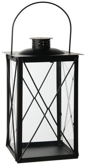 LYKTA - svart, Design, metall/glas (15/30/15cm) - Ambia Home