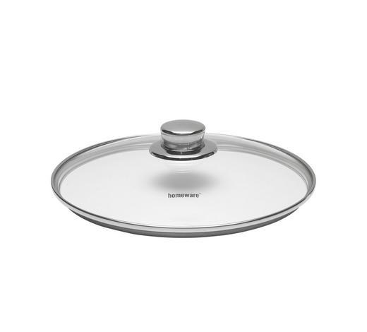 DECKEL - Klar/Edelstahlfarben, Basics, Glas/Metall (20cm) - Homeware Profession.