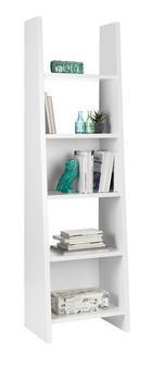 REGÁL - bílá, Design, dřevěný materiál (54/187/38cm)