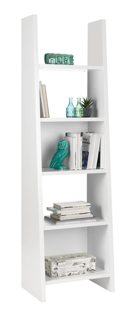 REGAL in 54/187/38 cm Weiß - Weiß, Design, Holzwerkstoff (54/187/38cm)