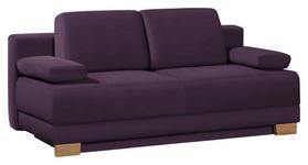 SCHLAFSOFA Violett - Eichefarben/Violett, KONVENTIONELL, Holz/Textil (200/95/101cm) - Venda