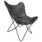 FOTELJA - crna, Trend, koža/metal (72/78/92cm) - AMBIA HOME