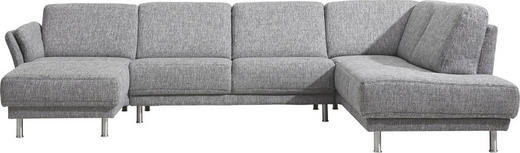 WOHNLANDSCHAFT - Schwarz/Alufarben, Design, Textil/Metall (328/215cm) - Musterring