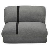 SCHLAFSESSEL in Textil Hellgrau, Dunkelgrau  - Dunkelgrau/Hellgrau, Design, Textil (78/82/58cm) - Carryhome