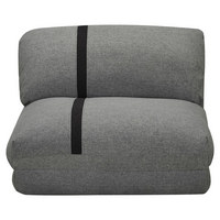 SCHLAFSESSEL in Metall, Textil Hellgrau, Dunkelgrau  - Dunkelgrau/Hellgrau, Design, Textil/Metall (78/82/58cm) - Carryhome