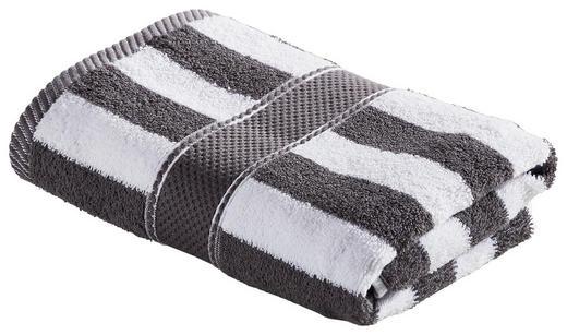 HANDTUCH 50/100 cm - Anthrazit/Weiß, KONVENTIONELL, Textil (50/100cm) - Esposa