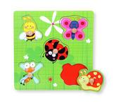 Greifpuzzle - Multicolor/Grün, Basics, Holz (22,5/22,5cm) - My Baby Lou