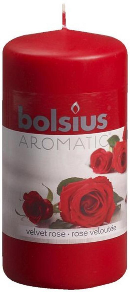 DUFTKERZE Rose - Rot, Basics (12/6cm) - Bolsius