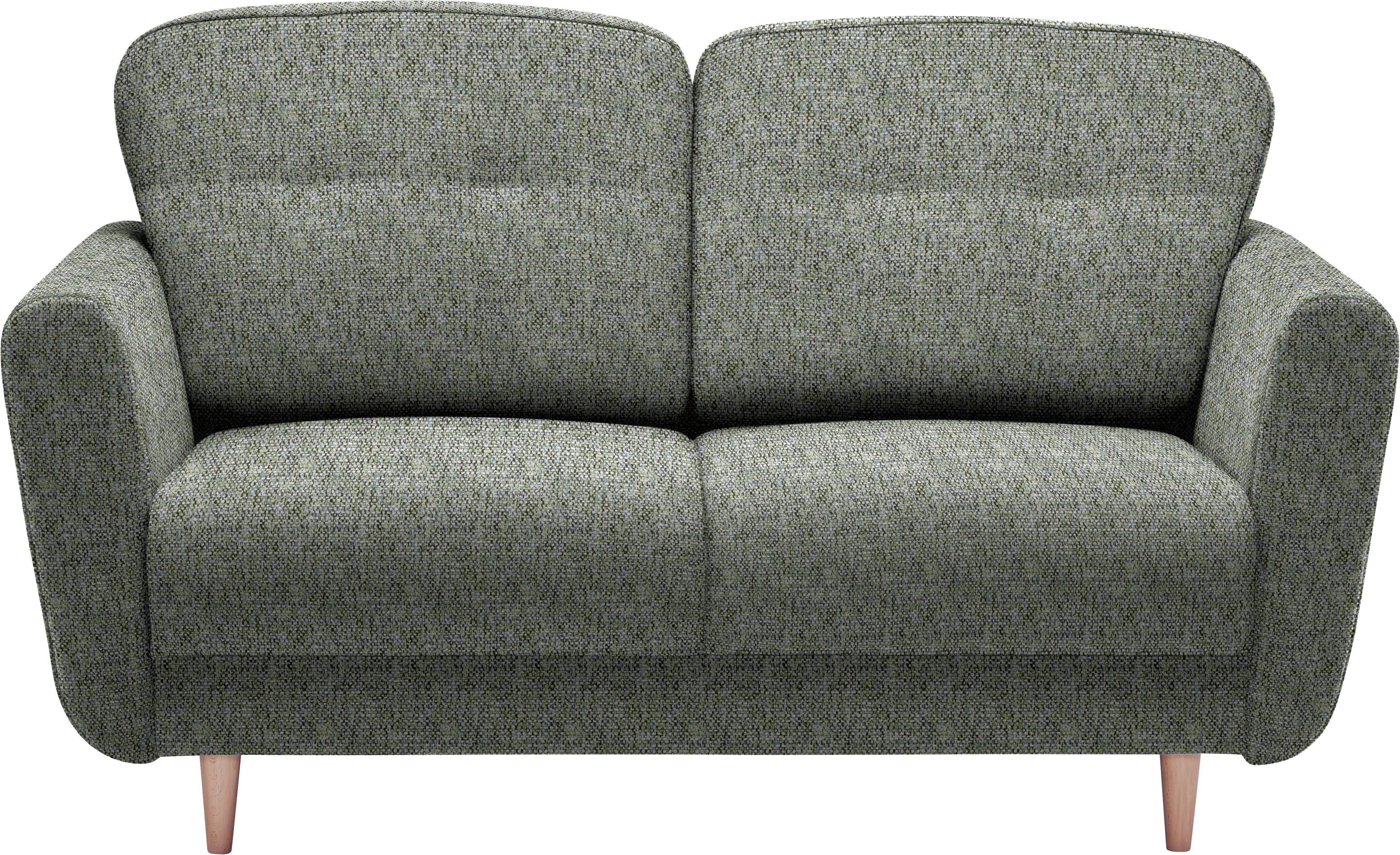 ZWEISITZER-SOFA Blau, Grün - Blau/Grün, Design, Holz/Textil (154/90/93cm) - HOM`IN