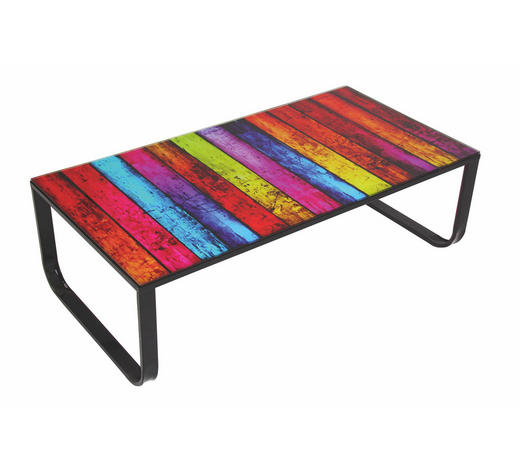 COUCHTISCH in Metall, Glas 105/55/32 cm - Multicolor, Design, Glas/Metall (105/55/32cm) - Carryhome