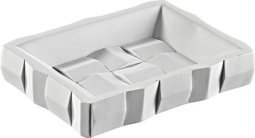 SEIFENSCHALE - Weiß, Kunststoff (7.3/5.1/1,6cm)