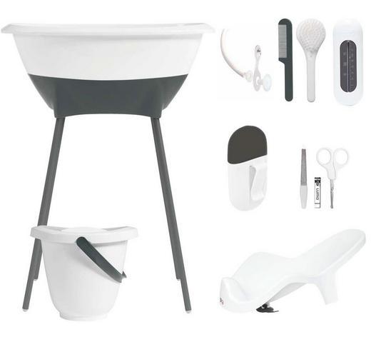 Luma Bade- und Pflegeset - Weiß, Basics, Kunststoff/Metall (79,5/40/46cm)