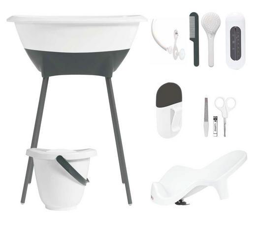 Luma Badewanne und Pflegeset - Weiß, Basics, Kunststoff/Metall (79,5/40/46cm)