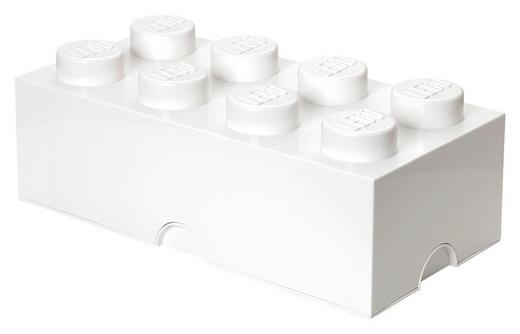 AUFBEWAHRUNGSBOX 50/25/18 cm - Weiß, Trend, Kunststoff (50/25/18cm) - Lego